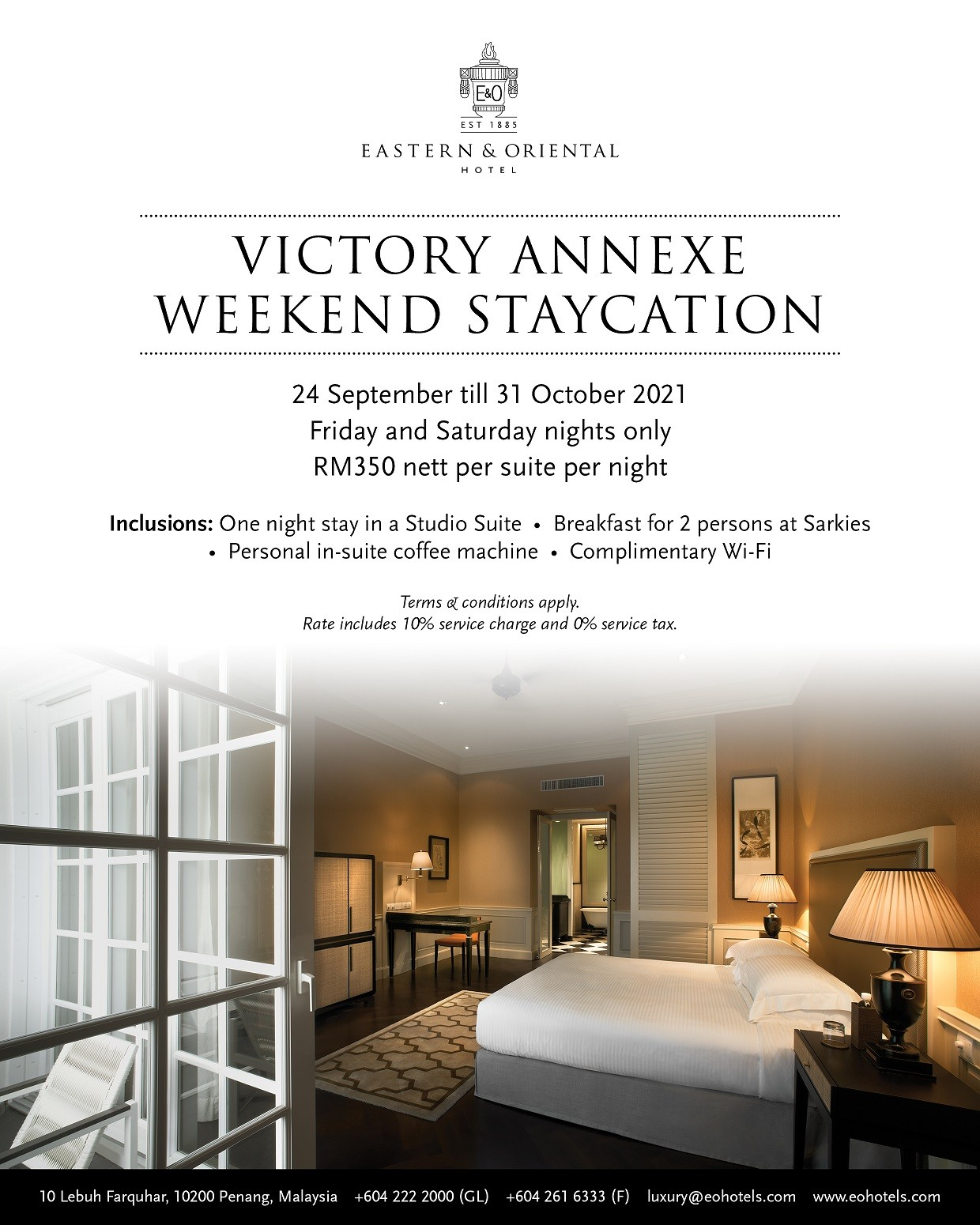 Victory Annexe weekend staycation by E&O Hotel