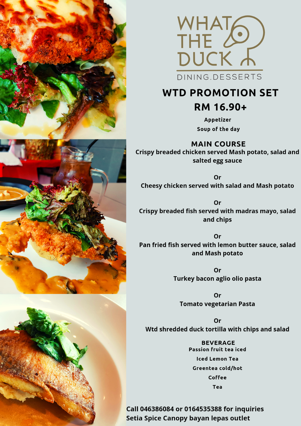 Promotion Set by What The Duck Restaurant