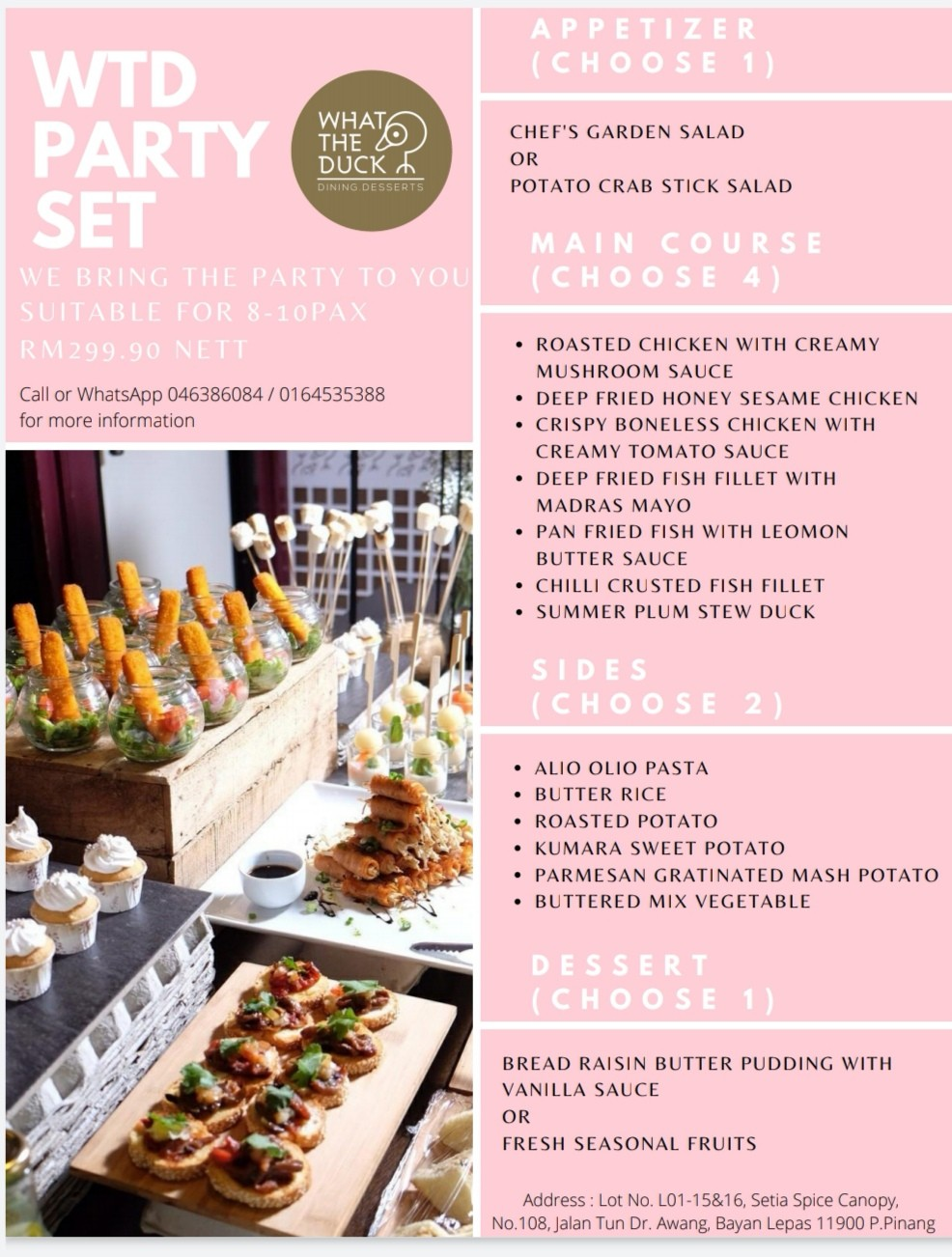 Party Set by What The Duck Restaurant