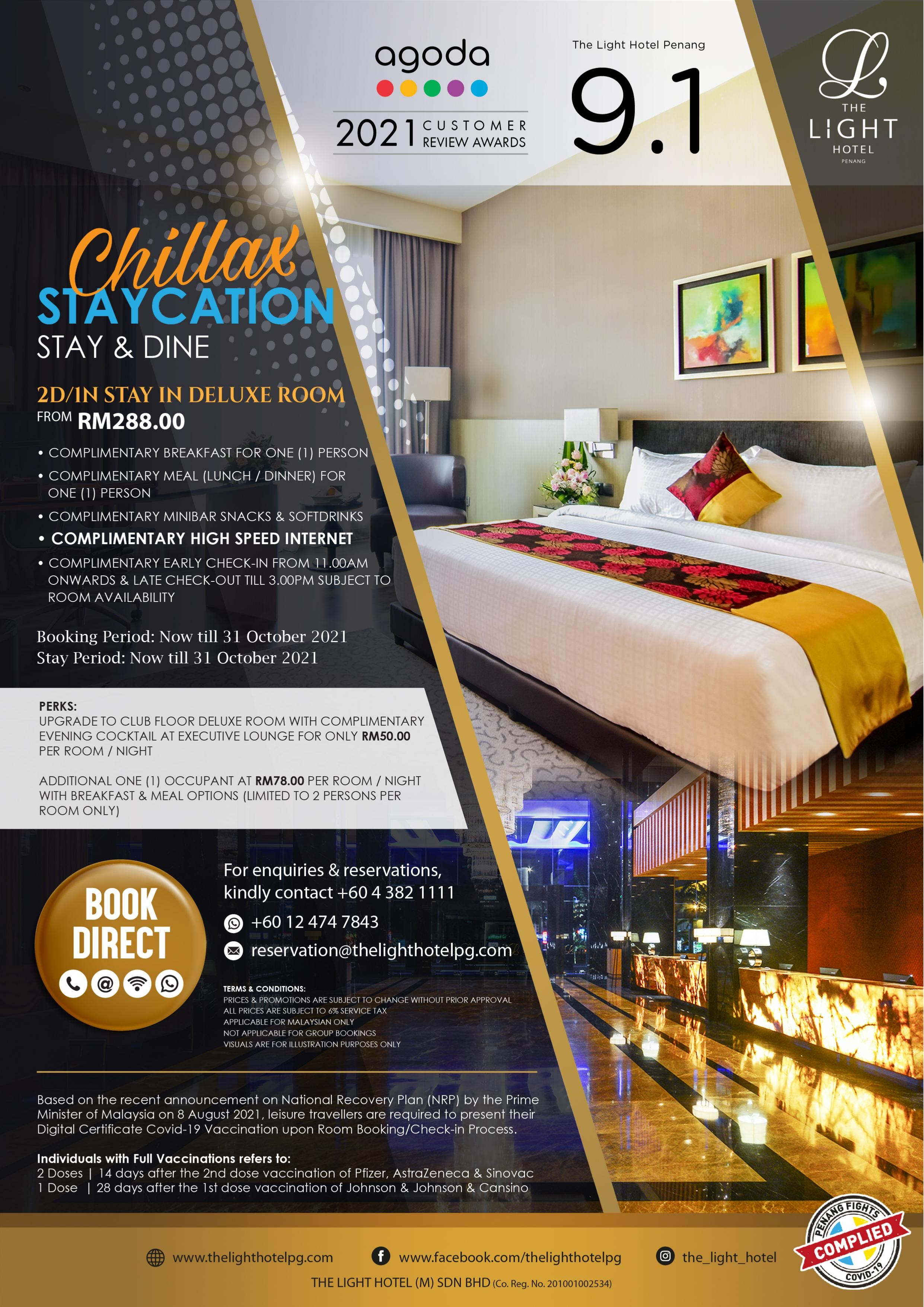 Chillax Staycation by The Light Hotel