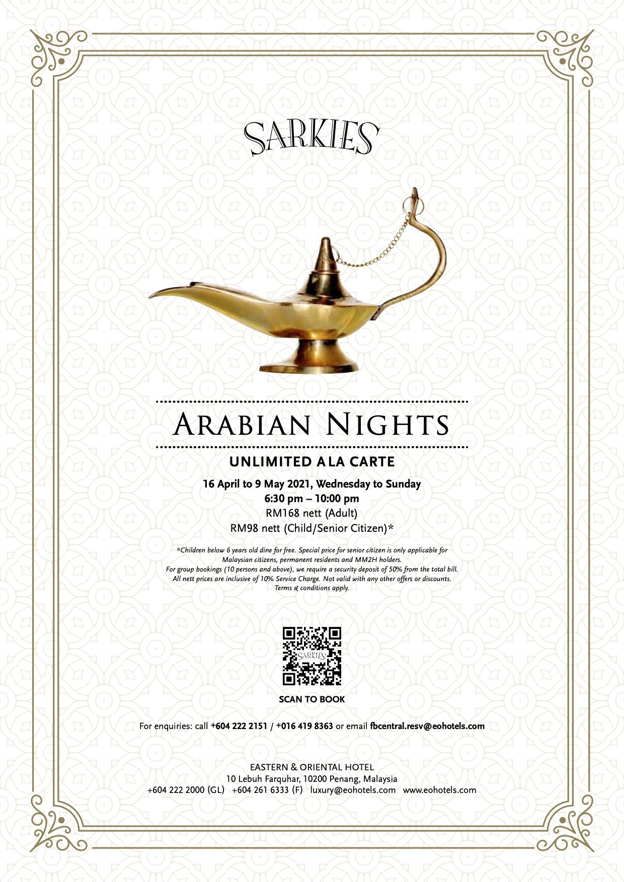 Sarkies  Arabian Nights Eastern & Oriental Hotel