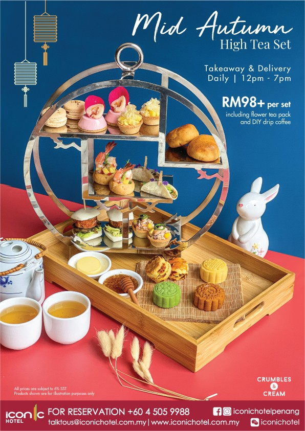 Mid Autumn High Tea Set by Iconic Hotel