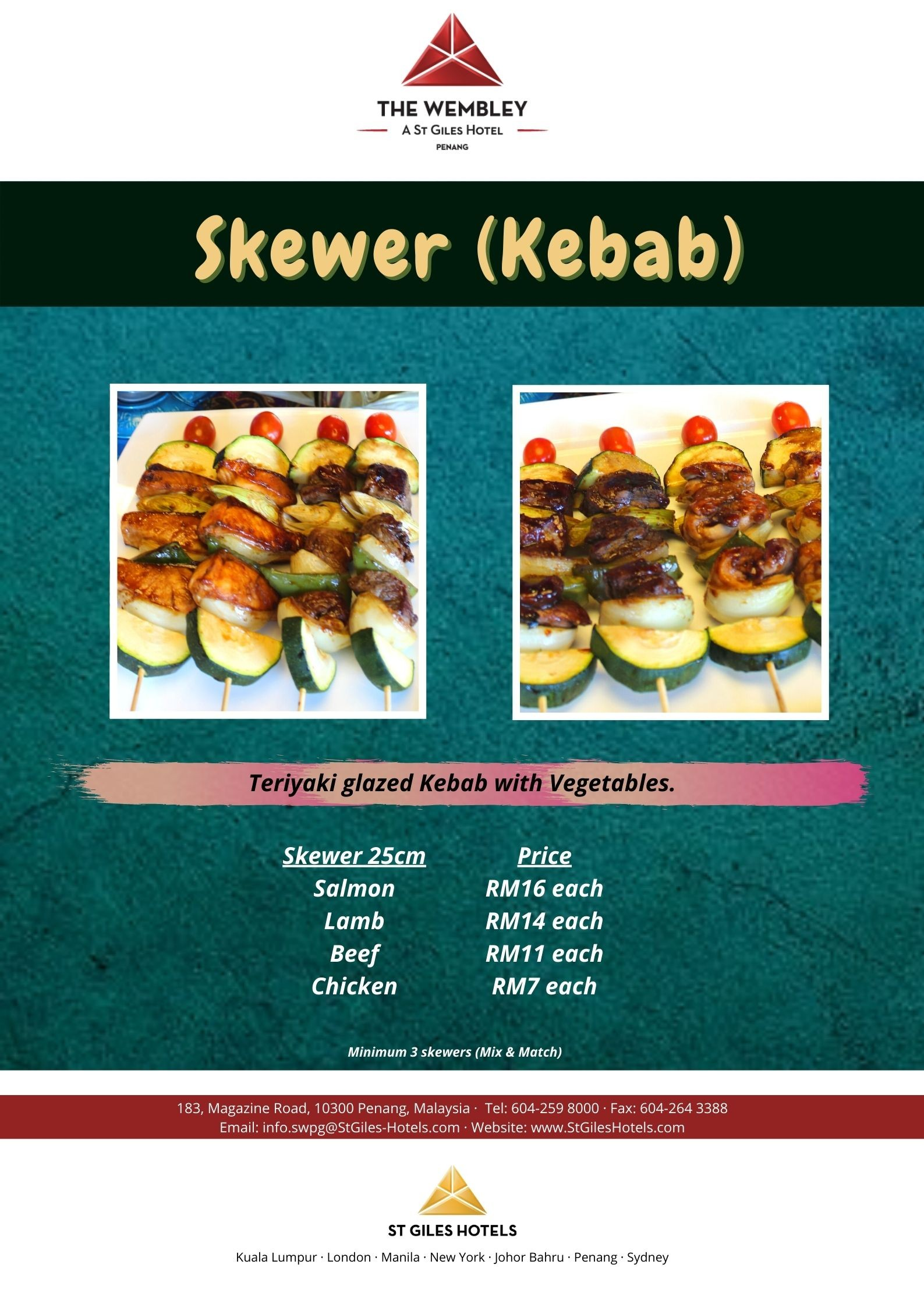 Skewer (Kebab)  The Wembley