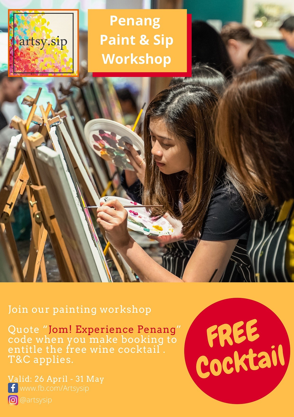 Penang Paint & Sip workshop