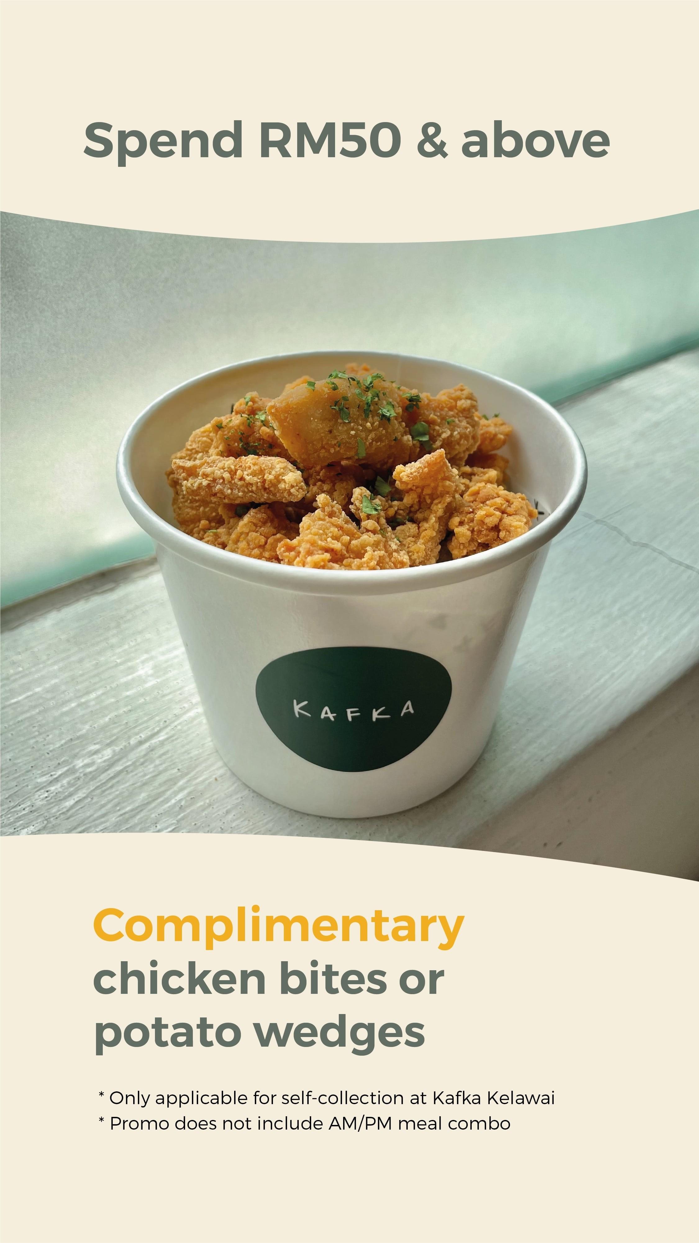 Complimentary Meal by Kafka Cafe