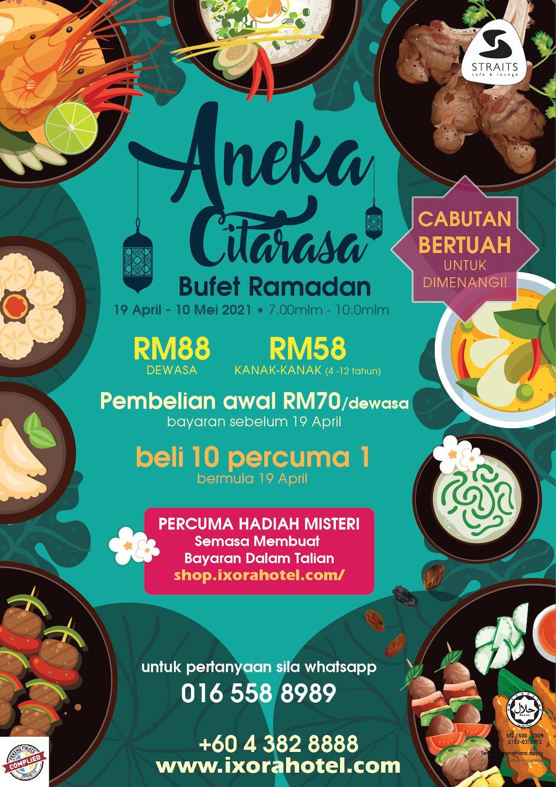 Aneka Citarasa Bufet Ramadan Ixora Hotel