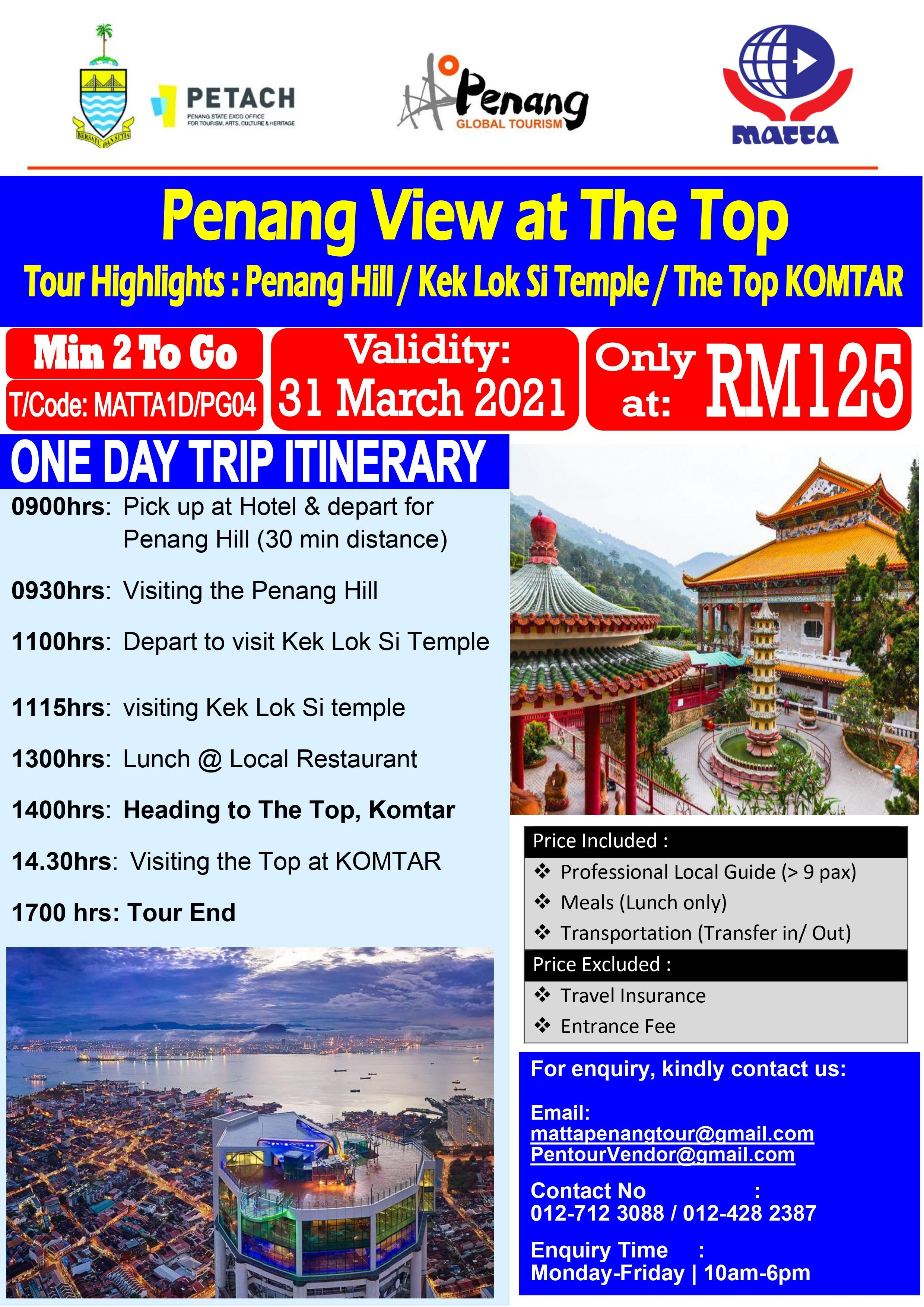 Penang View At The Top - 1 Day