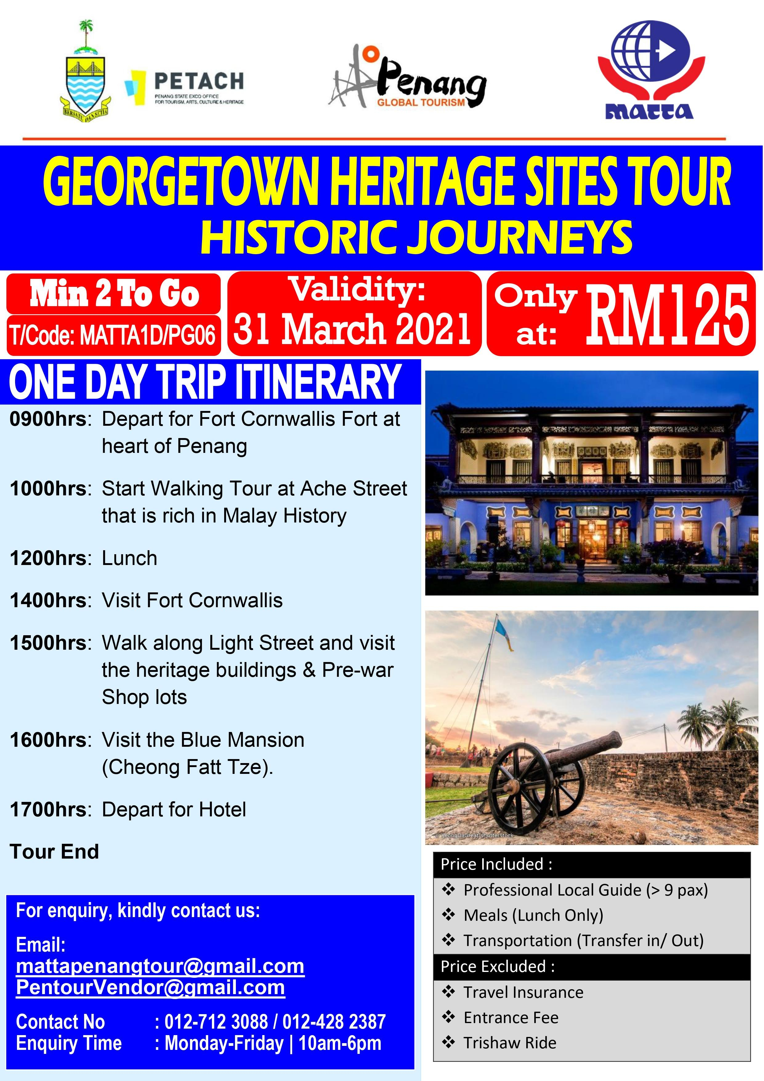 Penang Heritage Sites - 1 Day