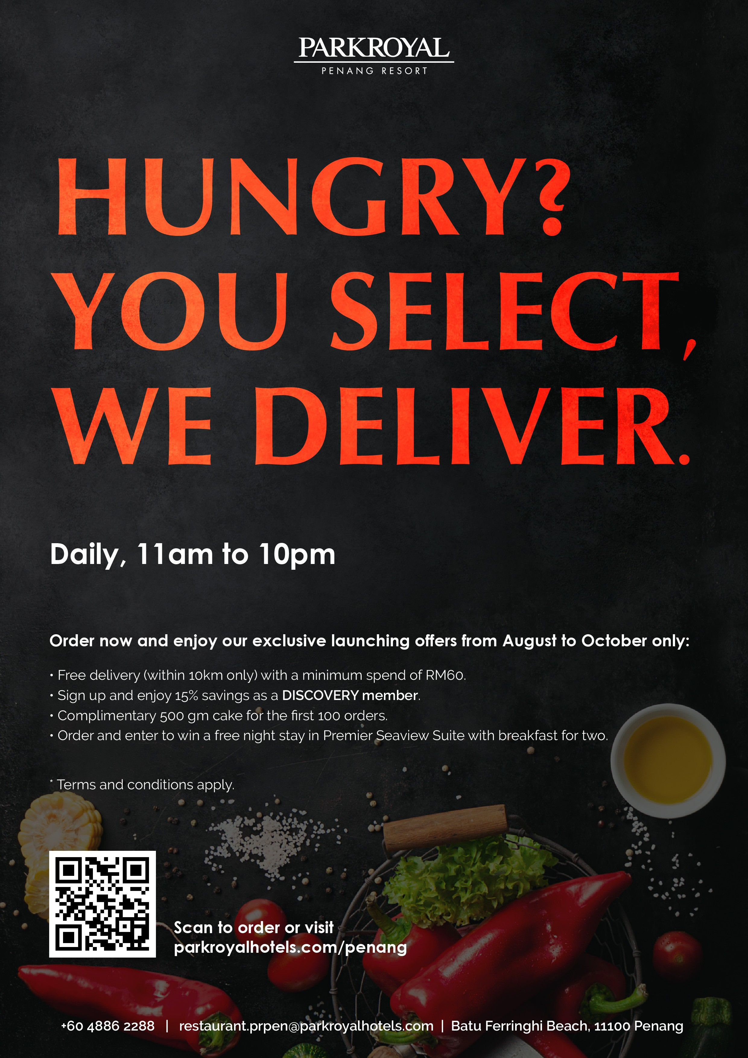Take-Out &  Delivery by ParkRoyal Penang Resort