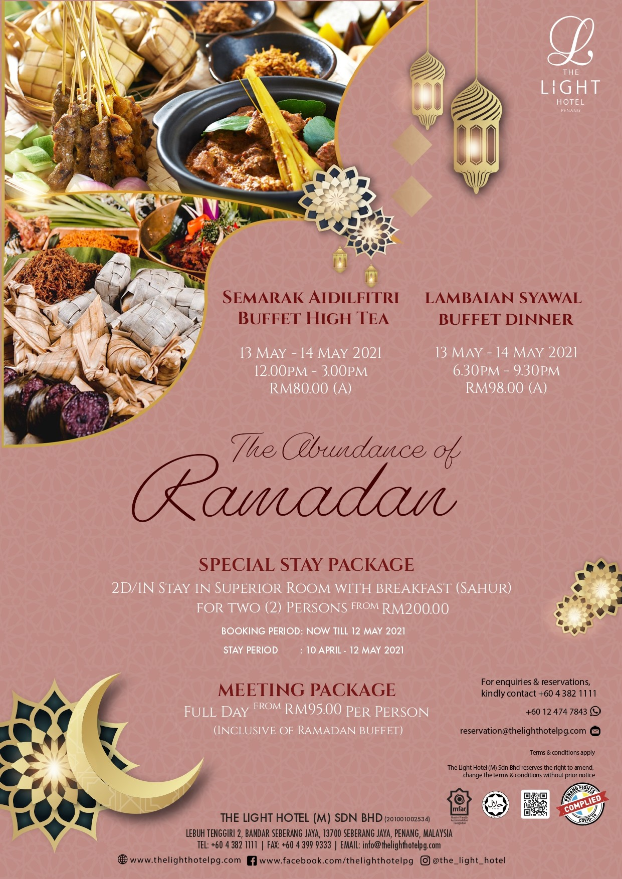 Semarak Aidilfitri Buffet High Tea by The Light Hotel
