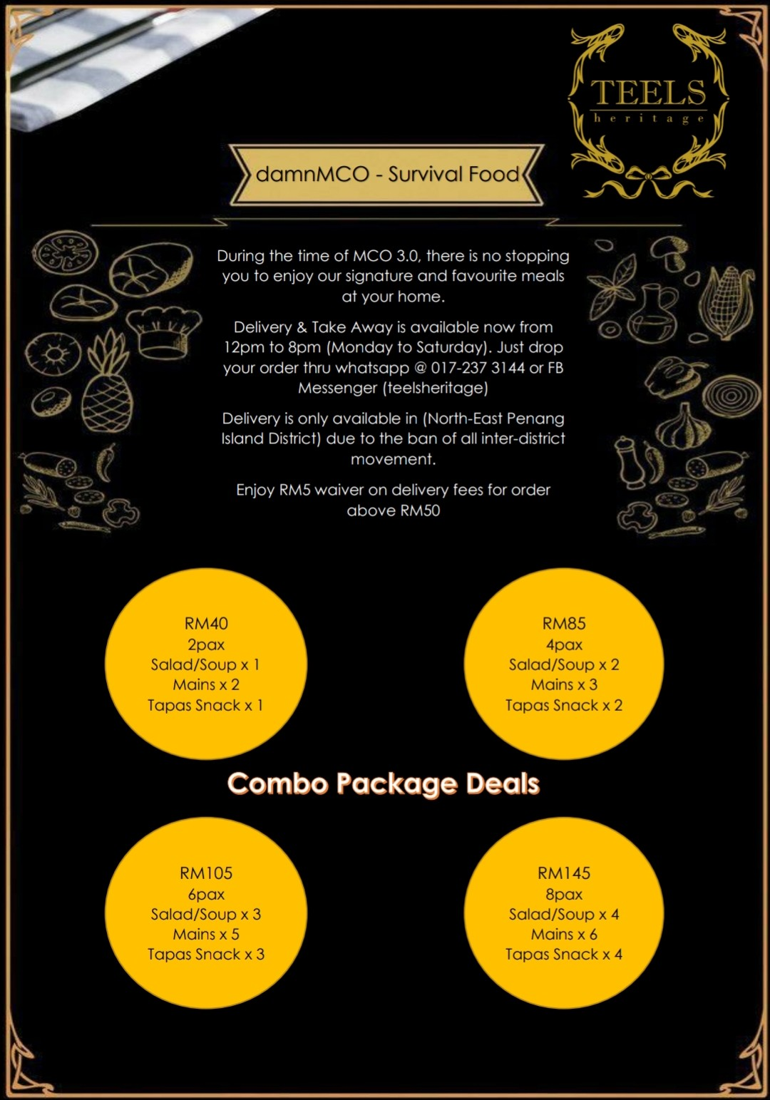 Combo Package Deals by Teels Heritage Cafe