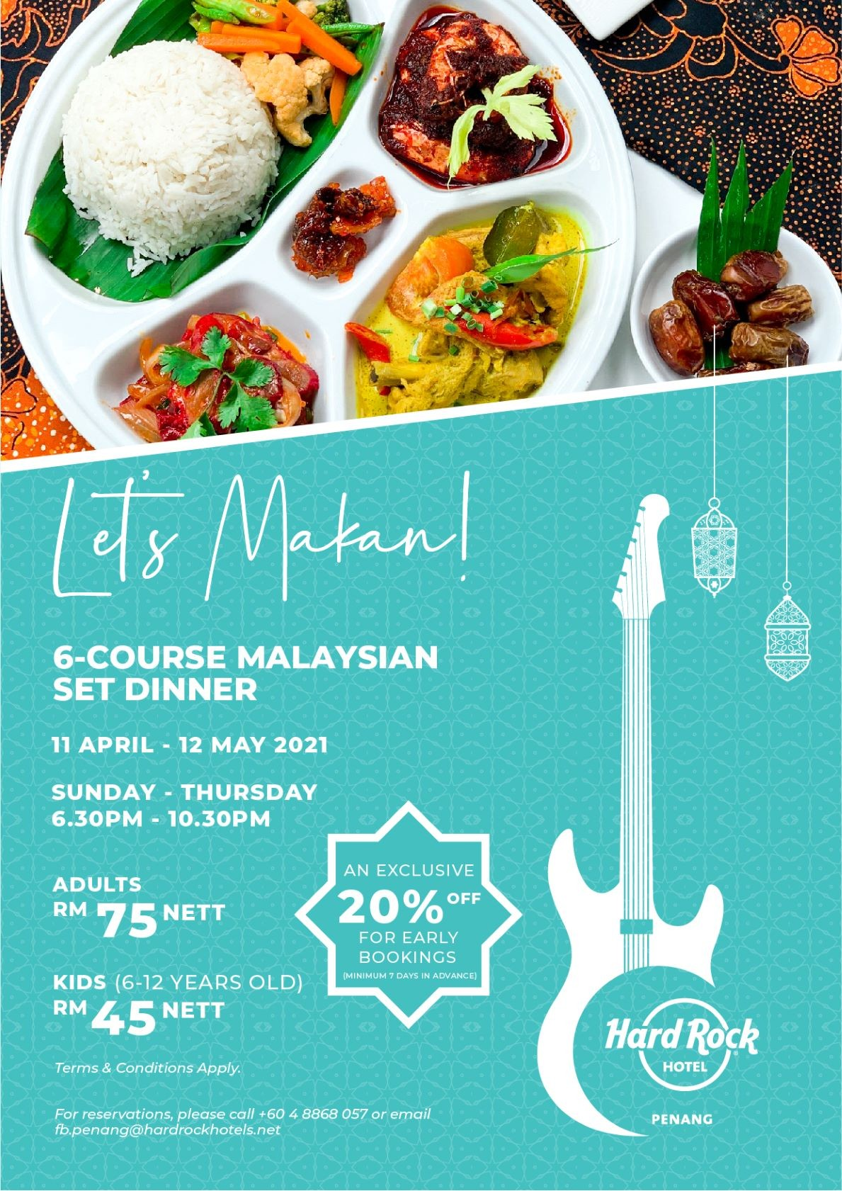 Let's Makan! 6 Course Malaysian Set Dinner Hard Rock Hotel Penang