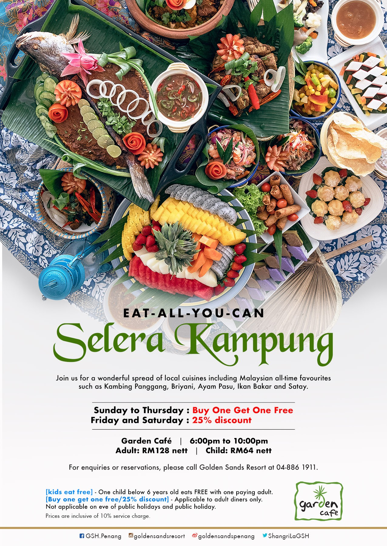Eat All You Can Selera Kampung  Golden Sands Resort by Shangri-La