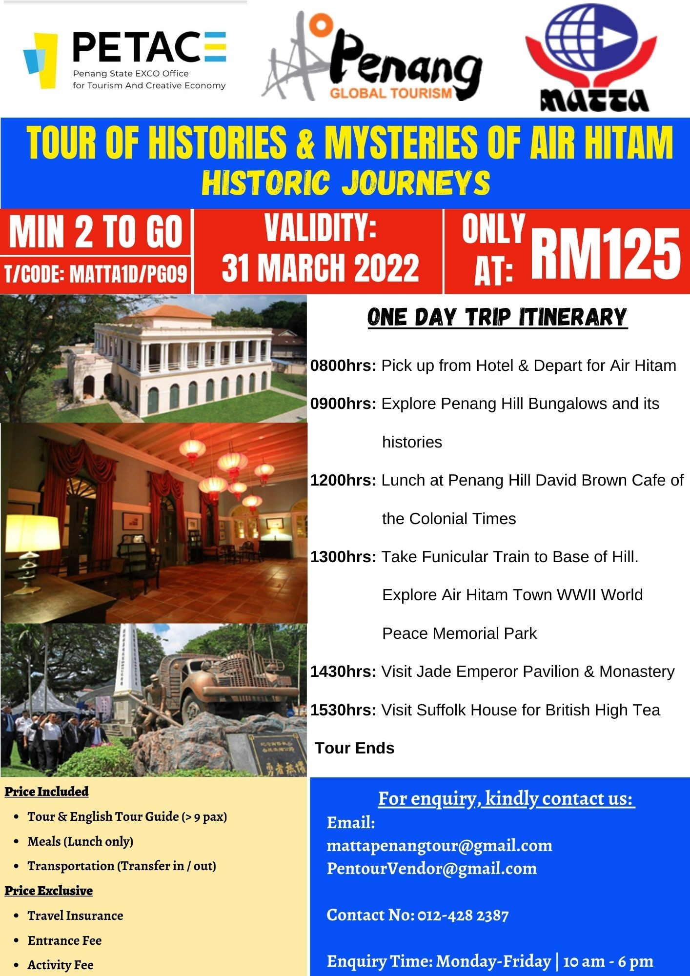 Tour of Histories & Mysteries of Air Hitam