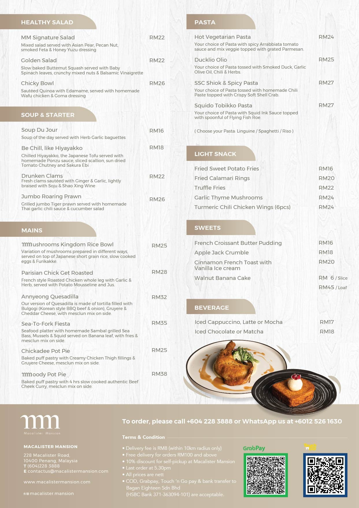 MMedley of Flavours by Macalister Mansion Menu