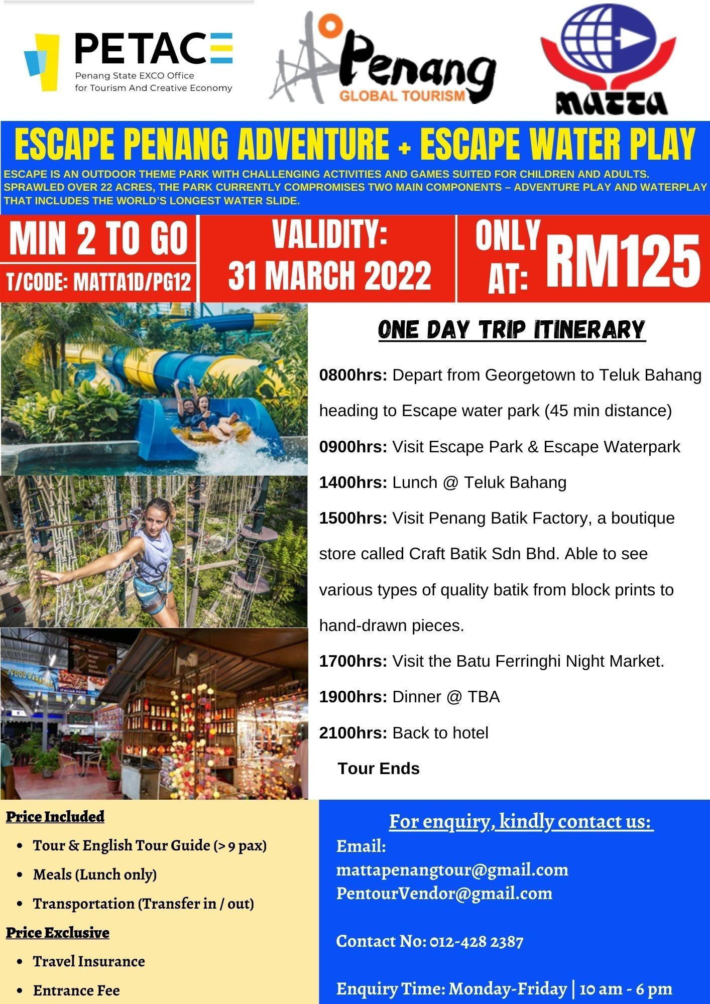 Escape Penang Adventure + Escape Water Play