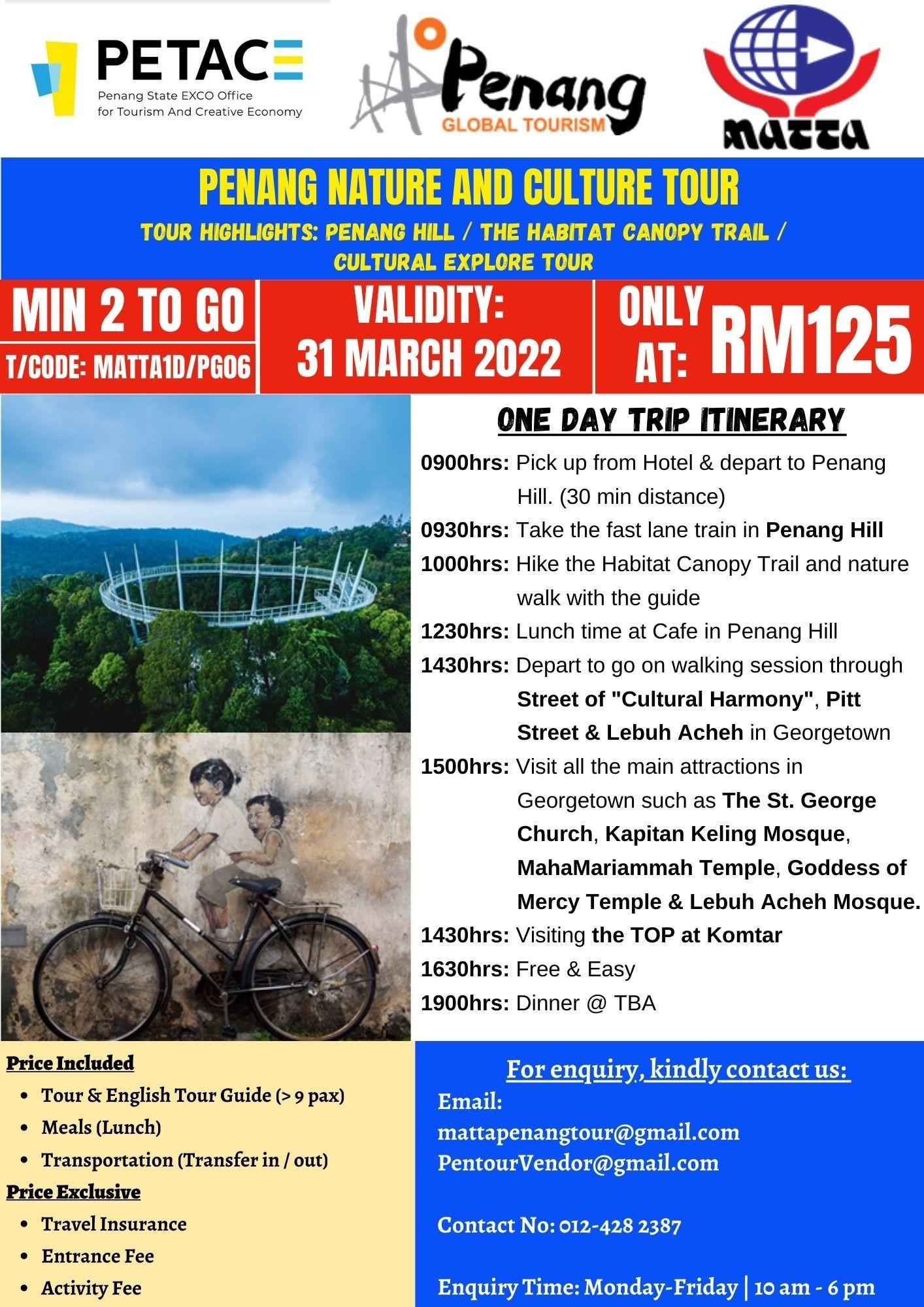 Penang Nature and Culture Tour