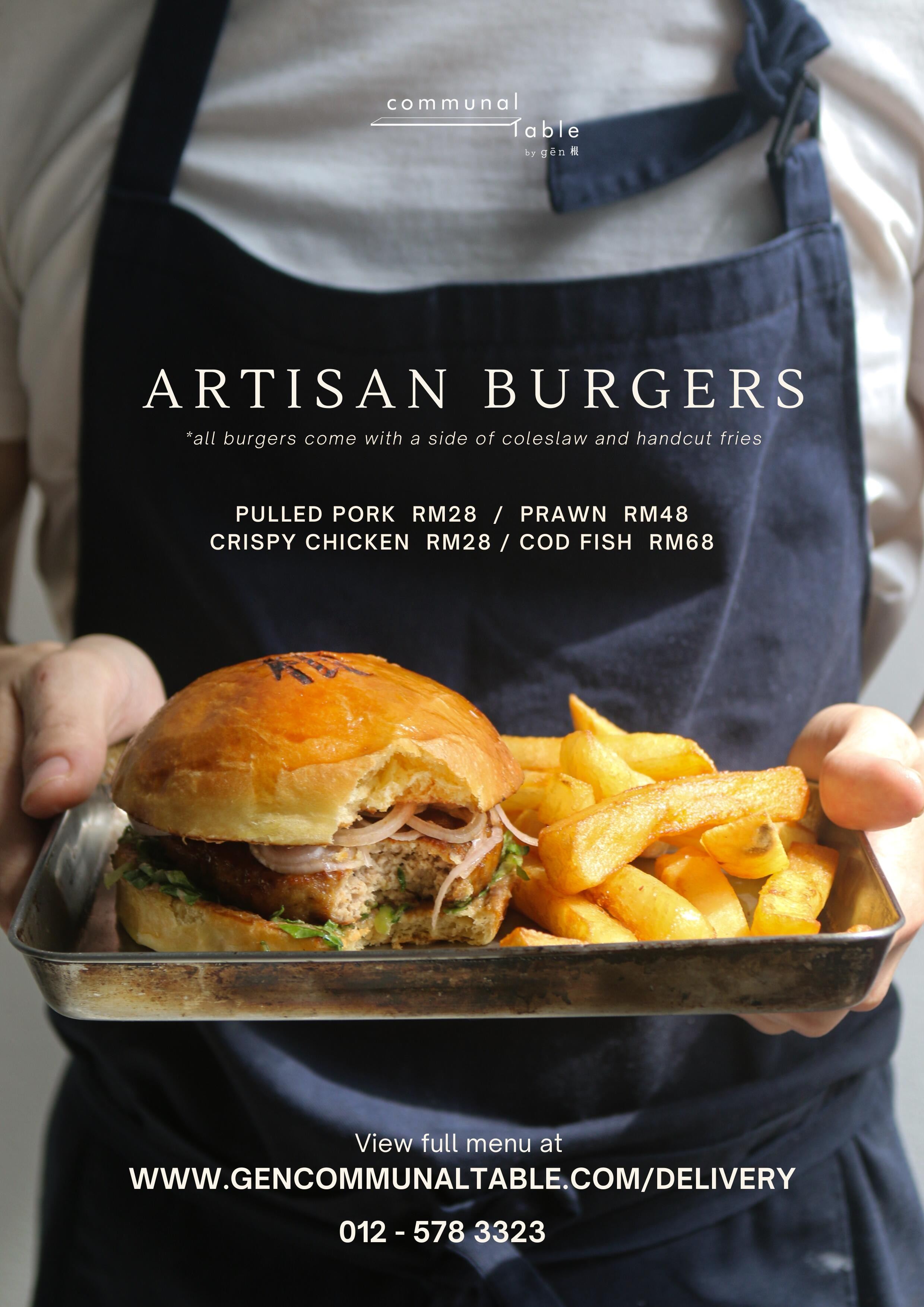 Artisan Burgers Communal Table by Gēn 根