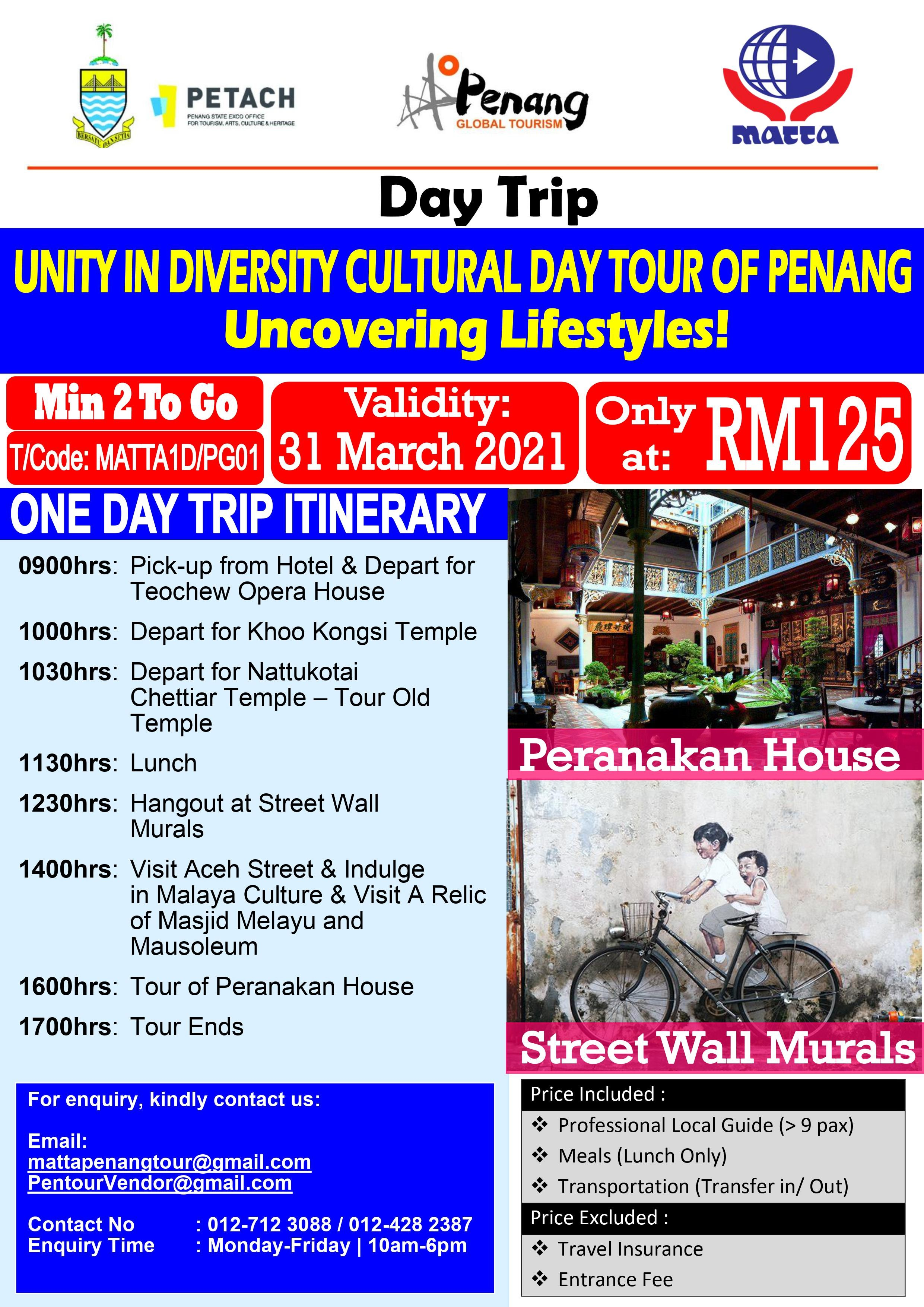 Unity in DIversity Cultural Tour Penang - 1 Day