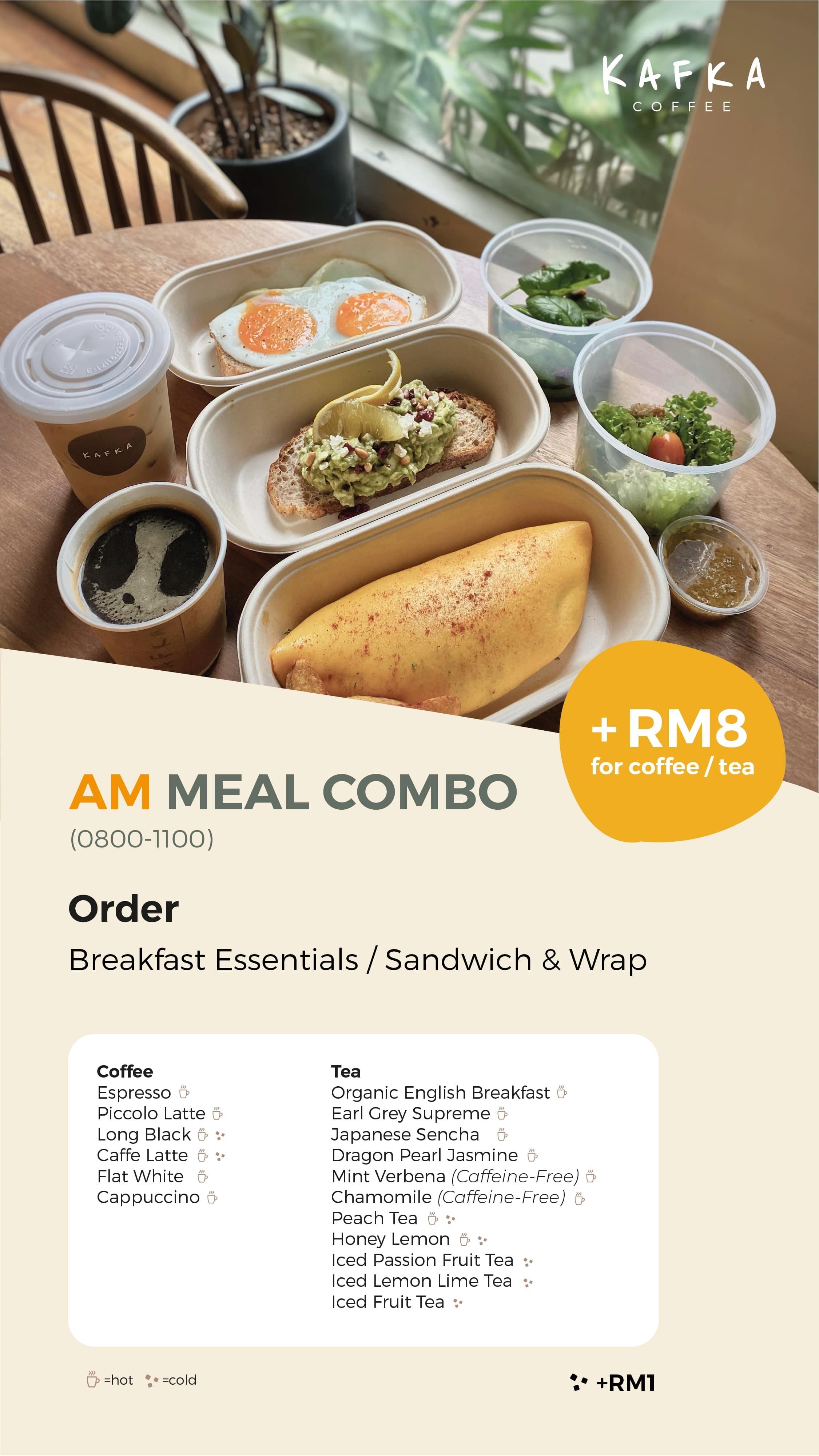 AM Meal Combo by Kafka Cafe