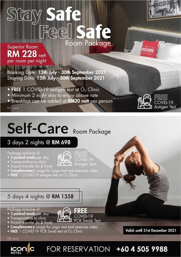 Stay Safe Feel Safe Room Package Self Care Room Package by Iconic Hotel