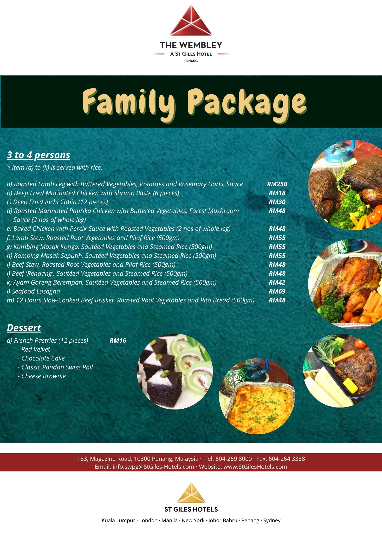 Family Package  The Wembley
