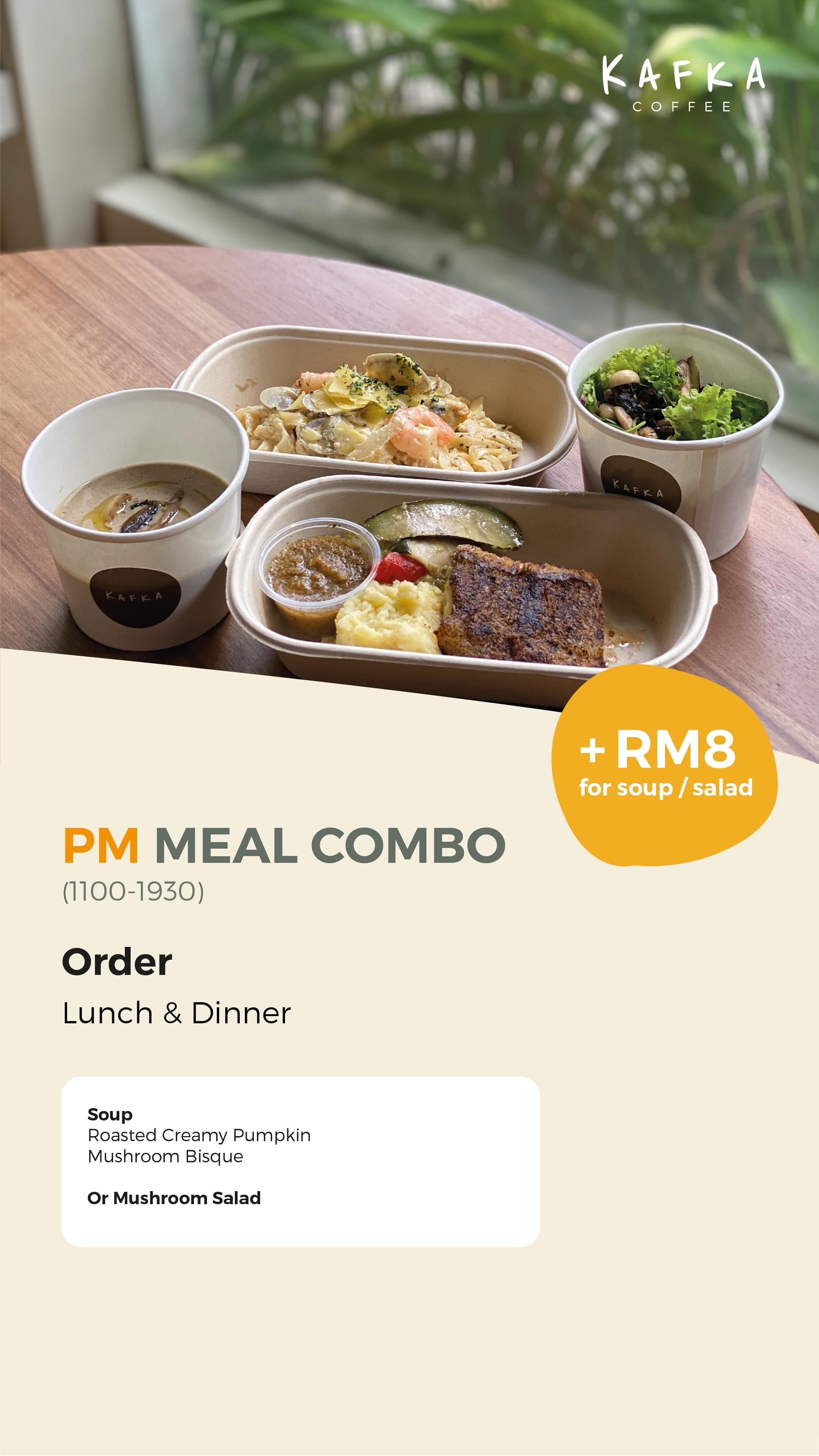 PM Meal Combo by Kafka Cafe
