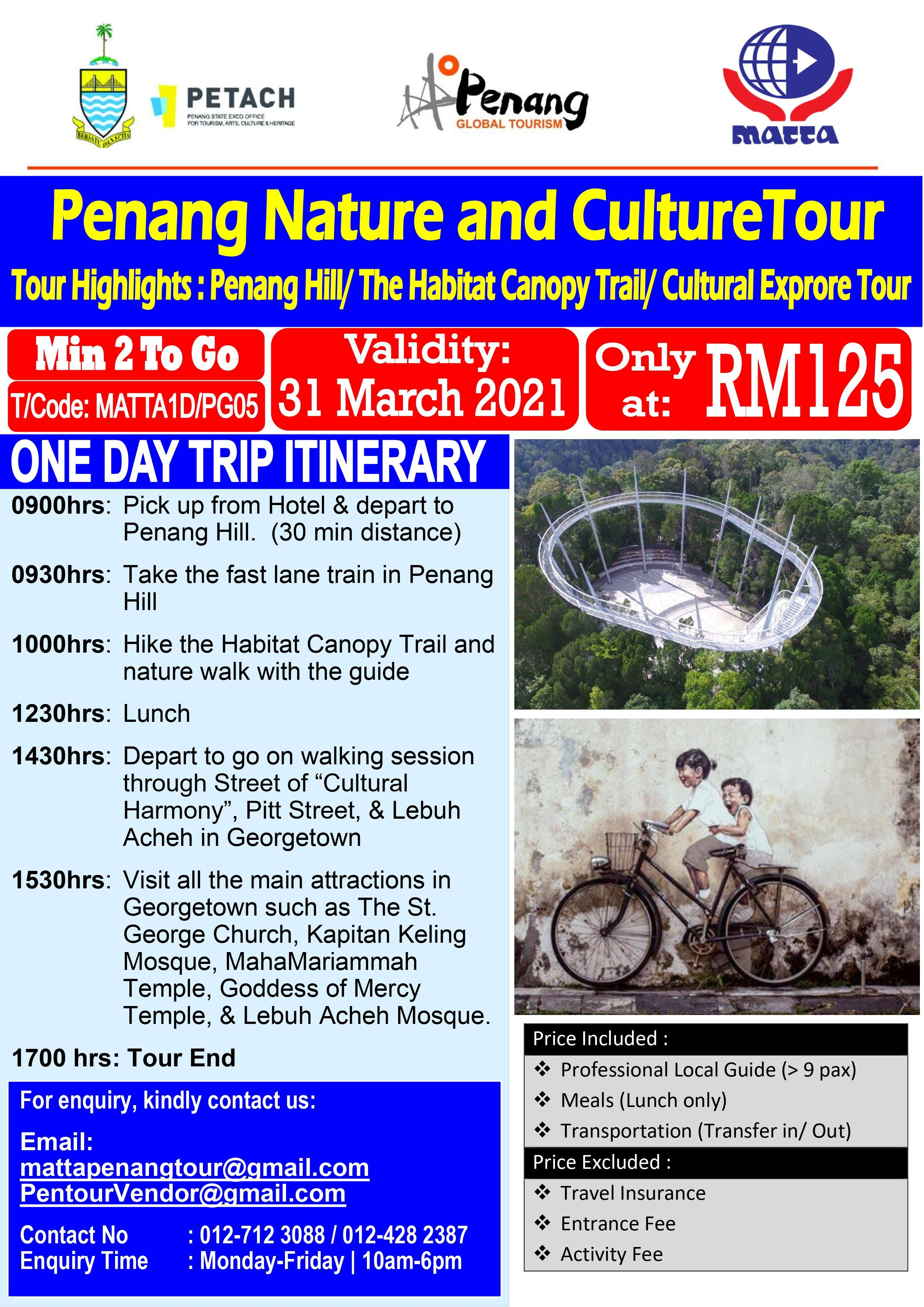 Penang Nature and Culture Tour - 1 Day