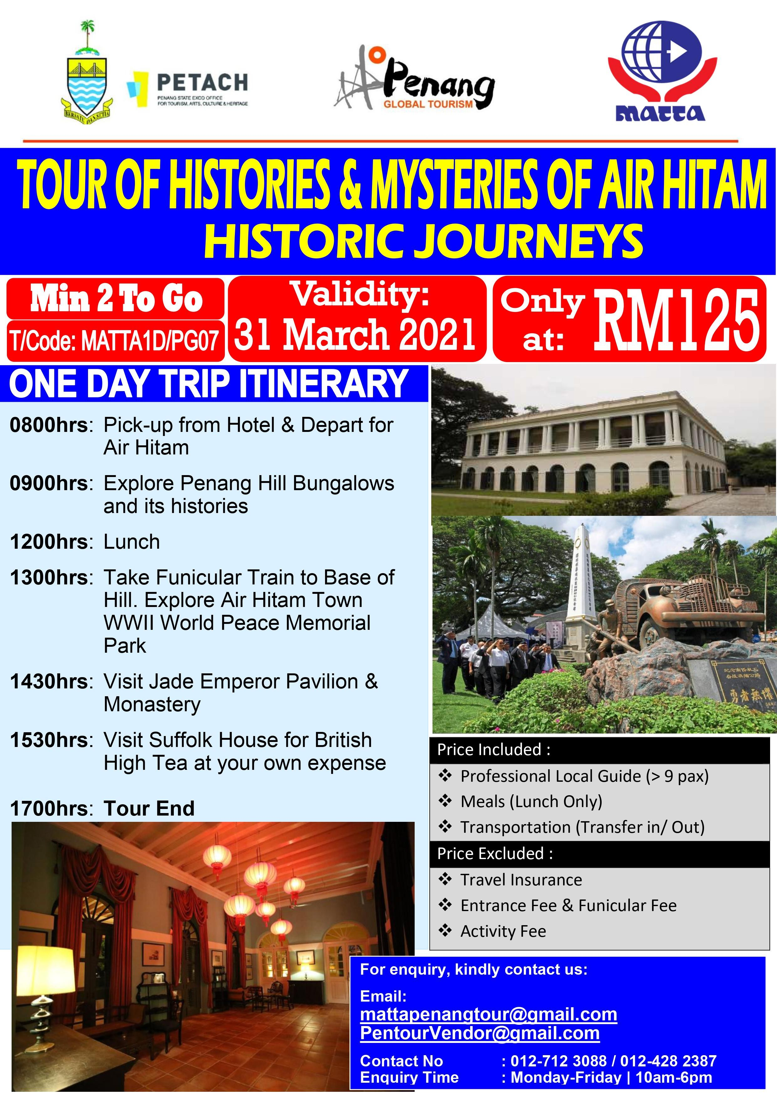 History Mystery Day Tour of Air Itam Penang - 1 day