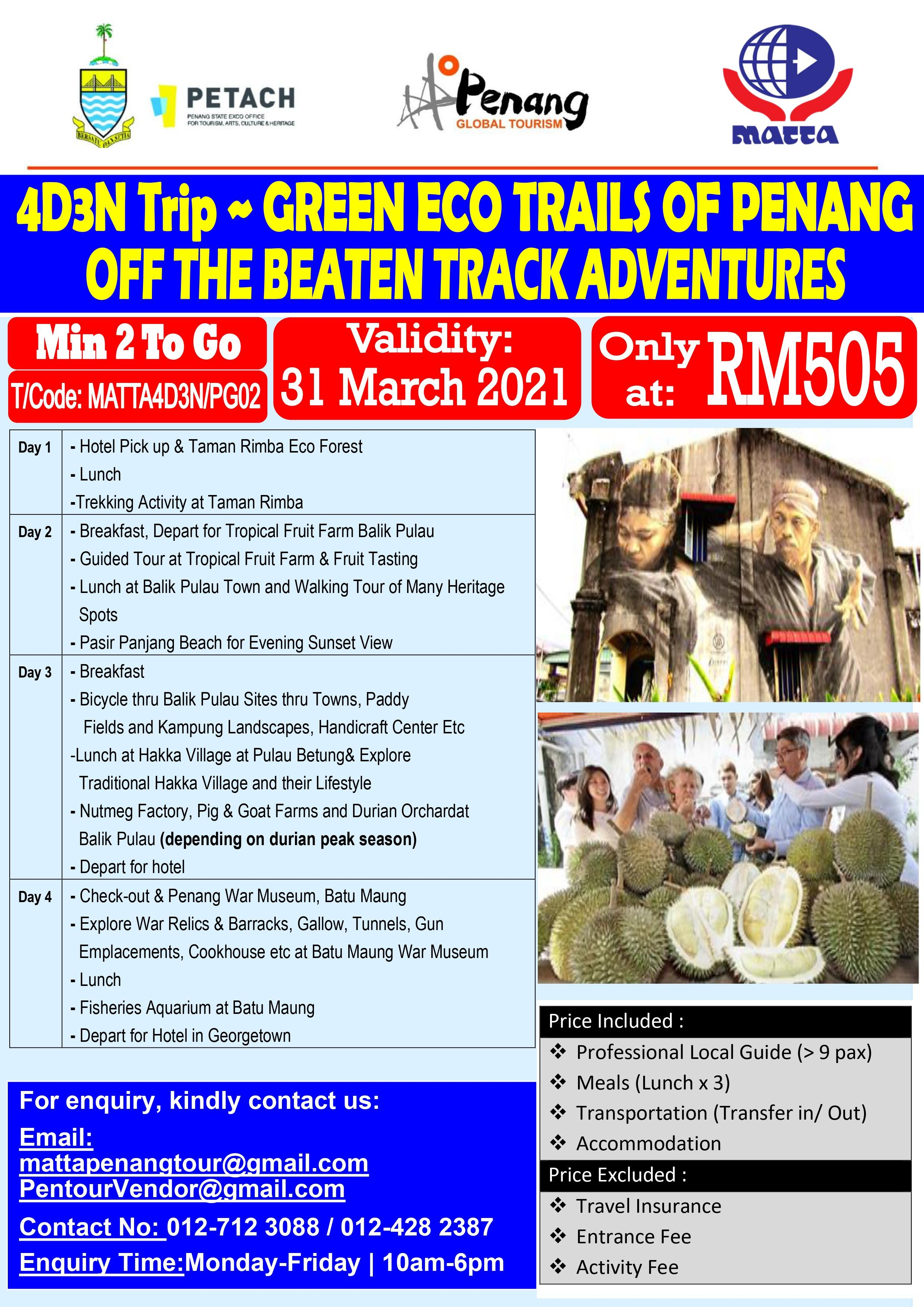 Balik Pulau Green Eco Trails - 4D 3N